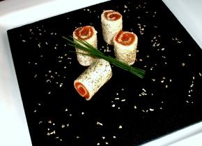 Timbales de salmón al eneldo
